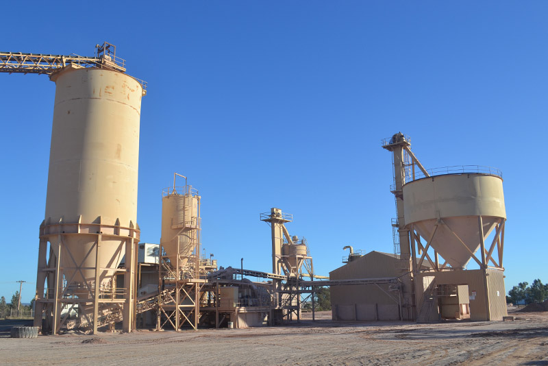 A facility of an aglime supplier in NSW